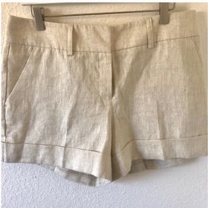 NWT NY and Co white shimmer shorts
